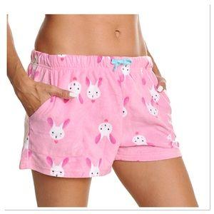 Pink Fleece Bunny Boxers
